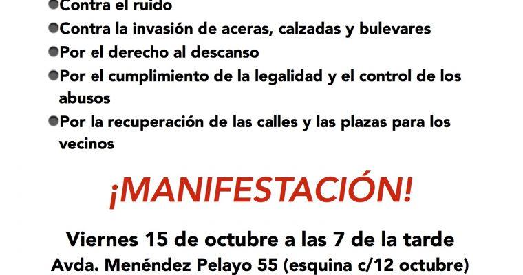 Manifestación 15 octubre a las 7